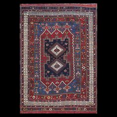 Afshar Rug - 6362 | Persian Tribal 4' 2'' x 5' 8'' | Red, Origin Persia, Circa…