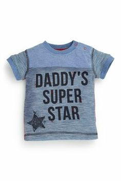 Buy Blue Short Sleeve Dad T-Shirt (0-18mths) from the Next UK online shop