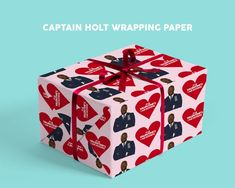 Captain Raymond Holt Valentine's Card, It Is Valentine's, I Am Ecstatic, Brooklyn Nine-Nine Celebri Valentine Day Cards, Valentines, Raymond Holt, Brooklyn Nine Nine, Decorative Boxes, Card Making, Handmade, Products, Valentine Ecards