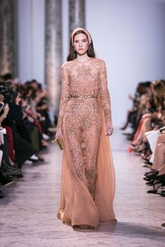 Heaven is for Real — It's Elie Saab's Spring Summer 2017 Haute Couture Collection - http://www.stylemepretty.com/2017/01/29/elie-saab-haute-couture-ss17-paris-fashion-week/