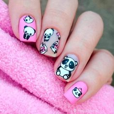 Square nails have become very popular nowadays. There are a lot of different colors, combinations, and themes that can be used on these nails.