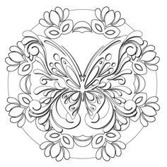 """- Product: ColorMe Decal, children and adult coloring activity - Design: butterfly mandala - Sizes: 8""""w x 8""""h; 15""""w x 15""""h; 24""""w x 24""""h; 36""""w x 36""""h - Intricacy level: low - Gift idea: perfect gift fo"""