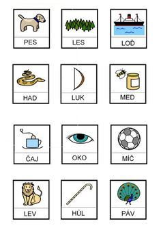 Slova ze 3 písmen – Monika R. Literacy, Alphabet, Crafts For Kids, Homeschool, Gallery Wall, Language, Album, Activities, Education