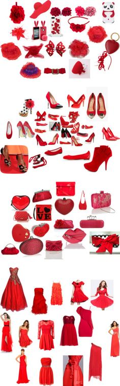 """""""pretty in red"""" by coraleah-larsen ❤ liked on Polyvore"""