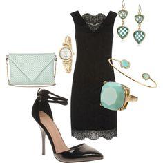 Black lace dress #838