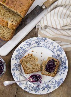 gluten-free + vegan pear & banana loaf