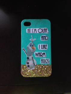 Diy phone case using paint, mod podge, and glitter