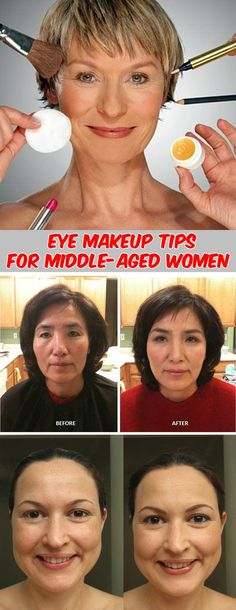 Read about most important eye makeup tips for middle-aged women.