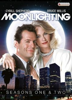 """Moonlighting"" Bruce Willis and Cybil Shepherd Cybill Shepherd, 1980s Tv Shows, Old Tv Shows, Movies And Tv Shows, Sean Leonard, Nostalgia, Bruce Willis, Television Program, Television Set"