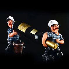2015 nieuwe collectie vintage klassieke creatieve personage decoratie rode wijn houders home handwerk luxe wijnrekken voor vriend gift in…