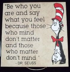 Dr Suess Saying 12x12 Vinyl Decal by TheCraftyGeek86 on Etsy