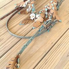 Beautiful Copper and Turquoise Headstall by Wild Eye Ranch