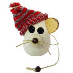 ★ Süße #Maus basteln   Wir basteln eine Weihnachtsmaus aus Ton. #Tiere basteln, DIY #Bastelidee für Kinder, Zur Anleitung: http://www.trendmarkt24.de/bastelideen.weihnachtsmaus-basteln.html#p