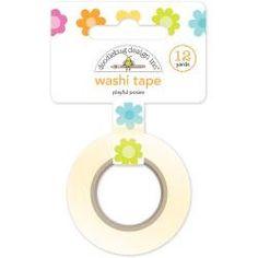 Playful Posies Washi Tape 8mm, 12 Yards by Doodlebug