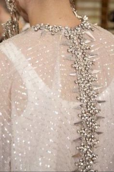 sequined back...
