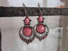 Southwestern style pink stone with small crystal by Suryshop, $8.00