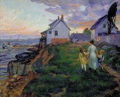 Evening, Rocky Neck, 1916, by John Sloan