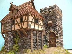 Casa Fortaleza Medieval - Escala 28 mm.