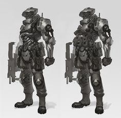 RLyonsArt: Corporate Soldier sketch