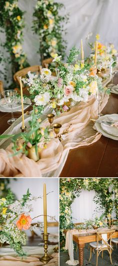 Earthy Wedding Flowers and Decor With Greenery