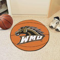 Western Michigan University Basketball Mat 27 diameter