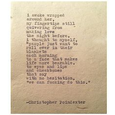 The Universe and Her, and I #323 written by Christopher Poindexter    Happy birthday to you baby, @_leiluna . I love you.
