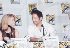 David and Gillian at Comic Con 2013