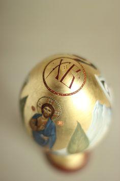 Byzantine Icons, Egg Art, Egg Decorating, Ikon, Easter Eggs, Snow Globes, Christmas Bulbs, Fancy, Create