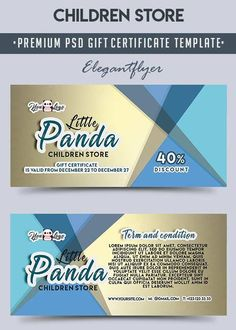 Voucher gift certificate coupon ticket template guilloche children store v2 premium gift certificate psd template free download fandeluxe Choice Image