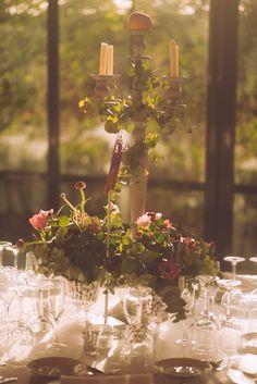 Candelabro - Arreglo floral