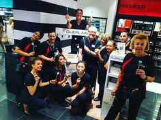 RoadShow Guerlain avec la dream team Guerlain ♡ #sephora #sephorafrance #cannesantibes #cannes #work #guerlain #lapetiterobenoire #larobeceline ;)