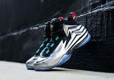 Nike Chuck Posite Metallic Silver Charles Barkley Men's 9 5 Basketball Shoes | eBay