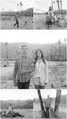 Black and White Boho Engagement by Nicole Caldwell Studio - KnotsVilla