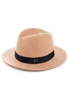 Vintage Wide Brim Camel Belted Woolen Gentleman Hat - OASAP.com d766ac258ad9