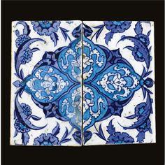A pair of Iznik blue and white border tiles, Turkey, circa 1530-1540   Lot   Sotheby's