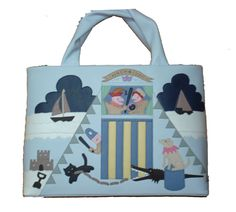 CICCIA - PUNCH AND JUDY SIGNATURE/PICTURE BAG BAG IN LIGHT BLUE - RRP 140.00 GBP