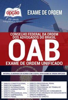 Apostila Oab 2019 Exame De Ordem Unificado Pdf E Impressa Oab