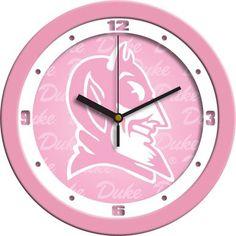 NCAA Duke Blue Devils Pink Wall Clock