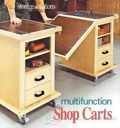 Multifunction Workshop Carts - Workshop Solutions Plans, Tips and Tricks | http://WoodArchivist.com