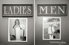 Cute signs of the bride and groom to hang on the bathroom doors to make the guests laugh :) @ Wedding Day Pins : You're Source for Wedding Pins!Wedding Day Pins : You're Source for Wedding Pins! Wedding Pins, Wedding Wishes, Wedding Bells, Wedding Details, Our Wedding, Dream Wedding, Wedding Photos, Trendy Wedding, Fall Wedding