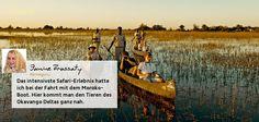 Die spektakulärste und komfortableste Art, das magsiche Land Botswana kennenzulernen ist sicherlich eine Fly In-Safari von einem Luxus-Camp zum nächsten. Lesen Sie im Blog, was Janine bei ihrer Fly In-Safari erlebt hat.