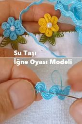 Learning to Lace and Tie Your Shoe Craft - Repeat Crafter Me - Louisa Hand Embroidery Flowers, Ribbon Embroidery, Embroidery Designs, Crochet Flower Patterns, Crochet Flowers, Fabric Flowers, Diy Crafts Dress, Flower Crafts, Crochet Crafts
