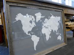 $48, giant gray map, Etsy