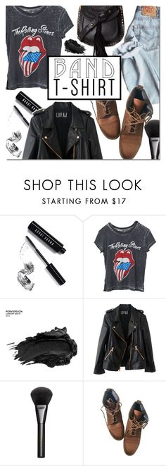 """Band T-shirt"" by dian-lado ❤ liked on Polyvore featuring Bobbi Brown Cosmetics, Urban Decay, Rosegold, Gucci, Topshop, Chloé, bandtshirt and bandtee"