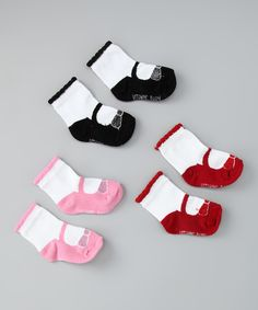 Red Bow Mary Jane Socks Set