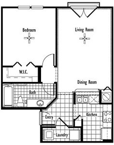 The Ada - One Bedroom One Bath - 712 sq. at Delaney Park One Bedroom House Plans, Small House Plans, Tallahassee Apartments, Luxury Apartments, Townhouse, Beautiful Homes, Floor Plans, Houses, Bath