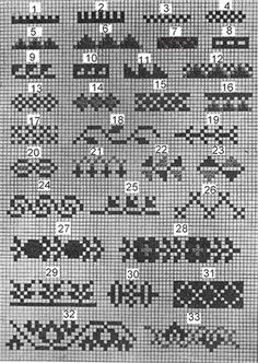 Traditional patterns used in Palestinian embroidery Graph Design, Chart Design, Needlepoint Patterns, Embroidery Patterns, Floral Embroidery, Cross Stitch Designs, Cross Stitch Patterns, Cross Stitching, Cross Stitch Embroidery