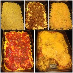 Taco Bake #fbdinnerclub 1pkg of kraft deluxe macncheese 1lb ground beef 3/4cup water 1packet of taco seasoning 3/4cup sour cream 1cup salsa 2cups of shed cheese Brown meat,drain. Add taco seasoning and water. Simmer 5mins. Boil noodles from macncheese dinner. Drain,add sour cream and cheese packet to noodles.  Spoon half noodle mixture in bottom of dish,1/2 meat mixture and repeat. Top with 1cup cheese. Cover and Bake at 400 for 15mins. Top with salsa and other cup of cheese. Bake uncovered…