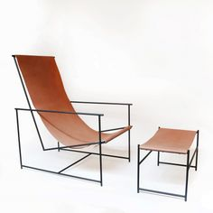 Anderson Sling Chair + Ottoman