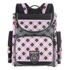 33c576a6865f Ранец Grizzly Ромбы(розовый) - купить в интернет магазине Детский Мир в  Москве и